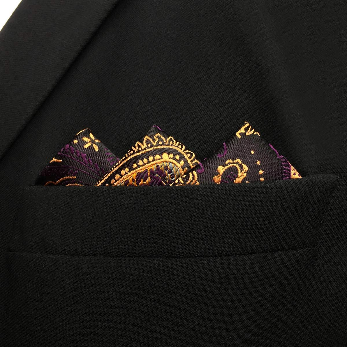 S/&W SHLAX/&WING Classic Mens Neckties Paisley Tie Purple Yellow Extra Long