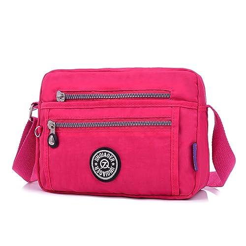 33cbdec83382c Foino Bolso Bandolera Escolares Bolsos de Moda Mujer Bolsa Colegio Ligero  Bolsos Baratos Bolsas de Viaje Impermeable Messenger Bag para Sport   Amazon.es  ...