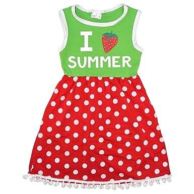 75afdf5e43 Amazon.com  Unique Baby Girls Summer Strawberry Dress  Clothing
