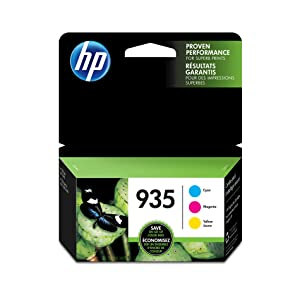 HP 935 Cyan, Magenta & Yellow Ink Cartridges, 3 Cartridges (C2P20AN, C2P21A, C2P22AN)
