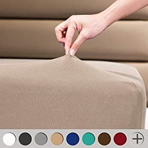 """COSMOPLUS Fitted Sheets Queen Fitted Sheet,4 Way Stretch Micro-Knit,Snug Fit,Wrinkle Free,for Standard Mattress and Air Bed Mattress from 8"""" Up to 14"""",Taupe"""