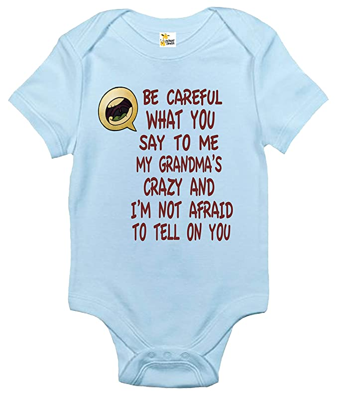 11575f66bde Amazon.com  Rapunzie My Grandma s Crazy Baby Bodysuit Cute Baby Clothes  Infant Boys Girls  Clothing