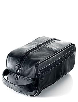 Men s Black Leather Toiletry Bag Men s Wash Bag (WB3)  Amazon.co.uk ... 9afc90ae8dd9b