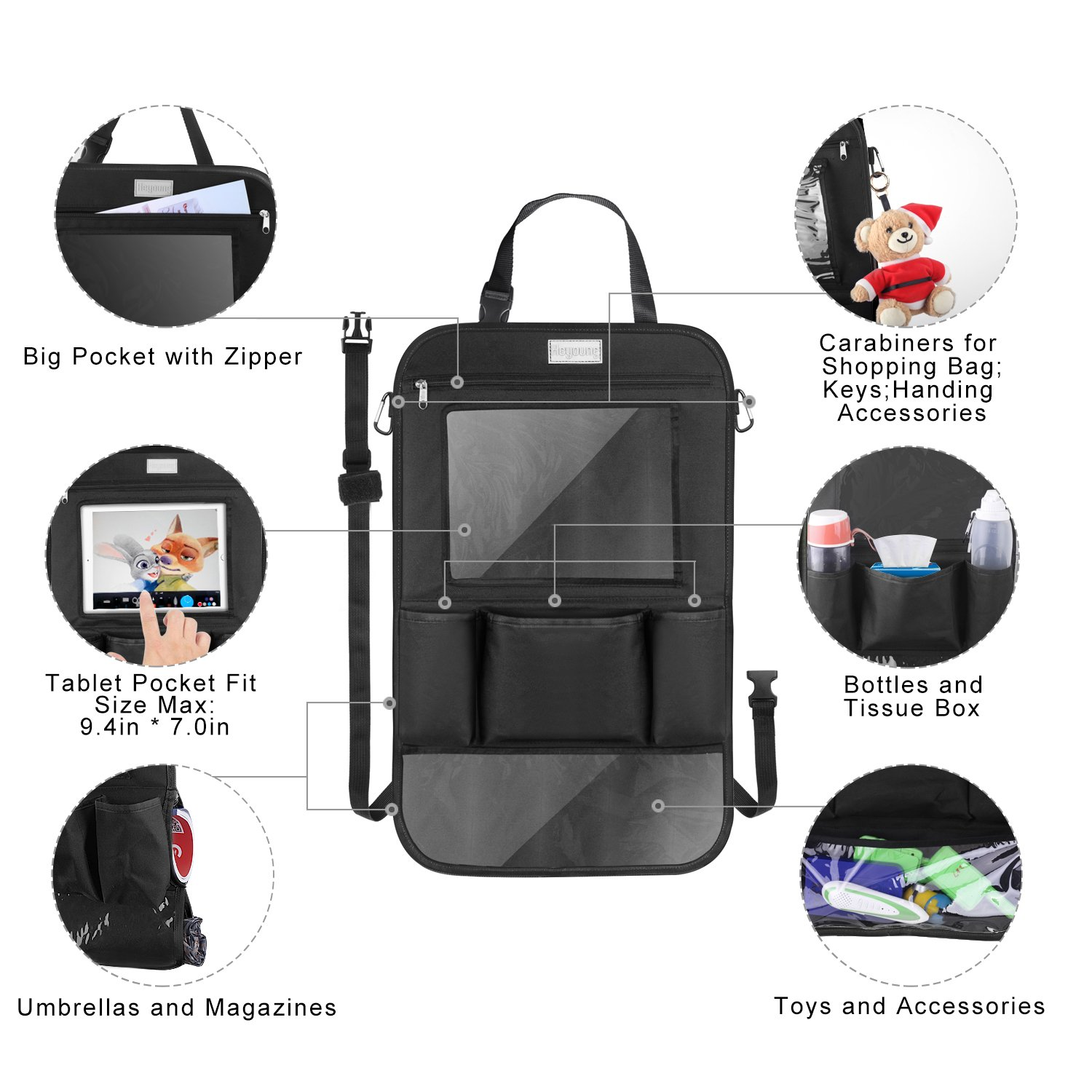 Luggage & Bags New Car Seatback Thermal Cooler Bag Organizer Box Fabric Storage Hanging Bag Waterproof Bag Insulated Lunch Bag For Women Men Shrink-Proof