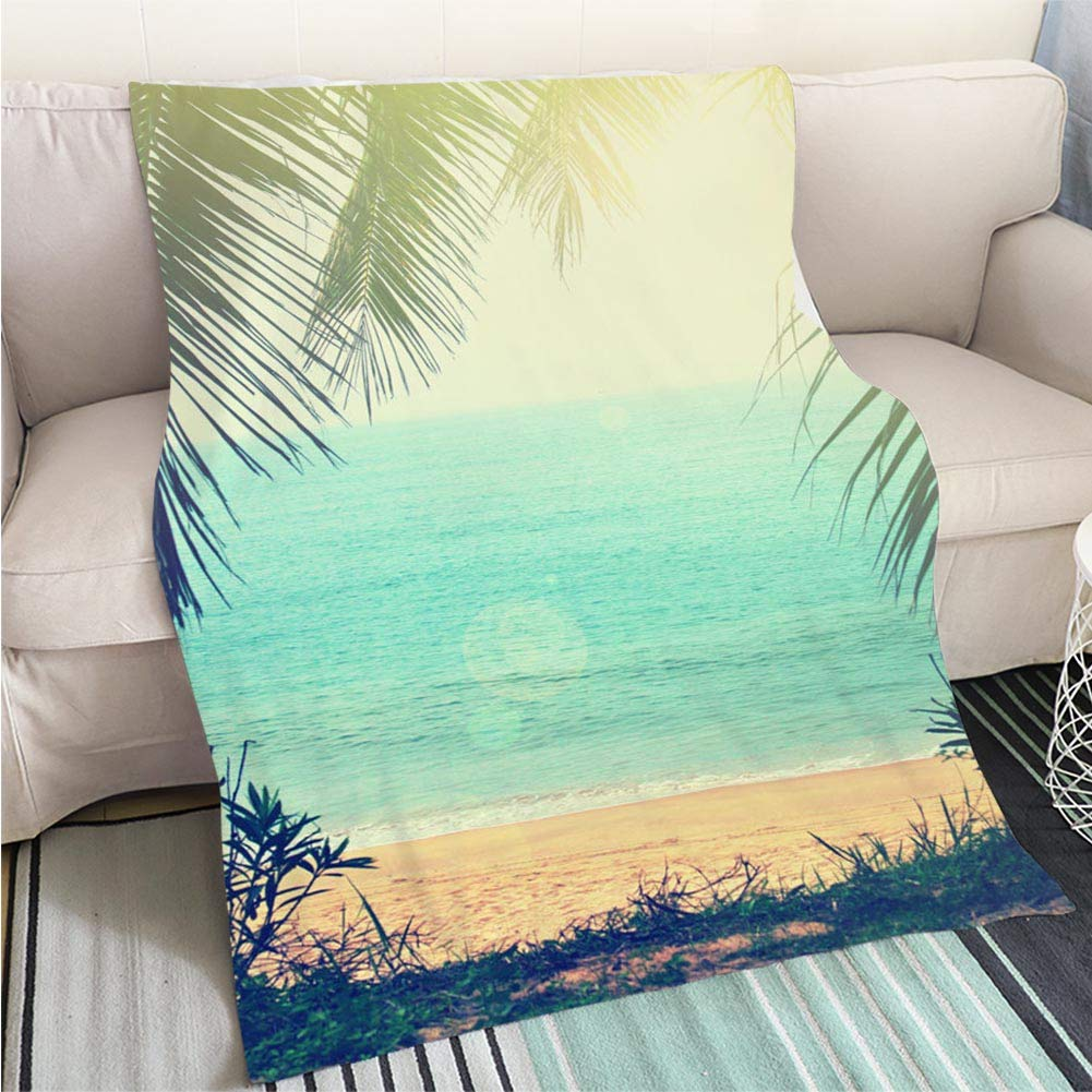 color18 31 x 47in Luxury Super Soft Blanket Tropical Background Perfect for Couch Sofa or Bed Cool Quilt