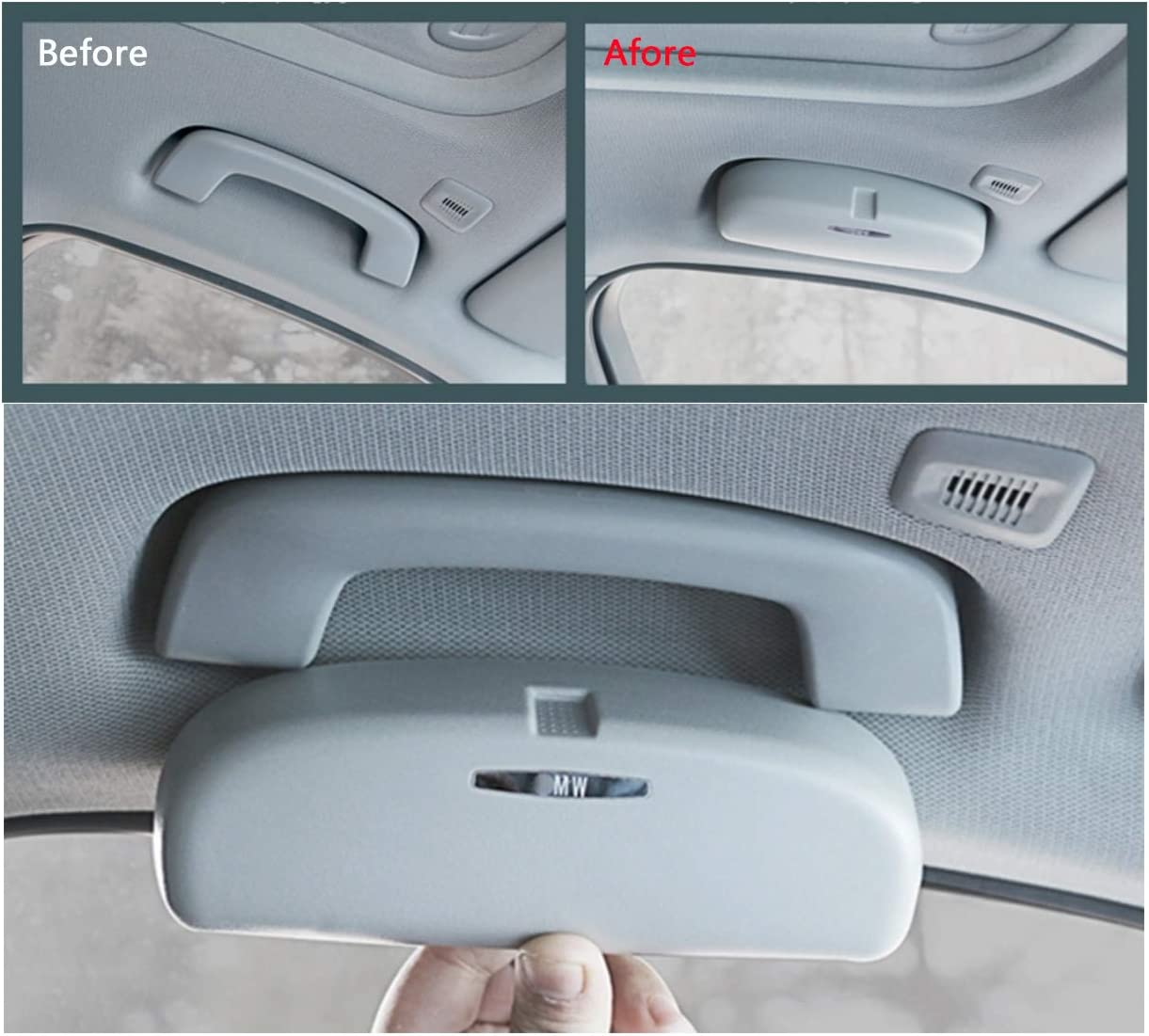 LFOTPP Car Sunglasses Holder Case Eyeglasses Storage Box Compatible with 1 Series 3 Series 5 Series 7 Series X1 X2 X5 X6,/Interior Accessories Autos Parts Beige