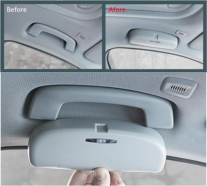 Lfotpp X1 X3 X5 X7 3er 5er 7er Auto Sonnenbrillenhalter Brillenetui Auto Innenraum Grau Auto