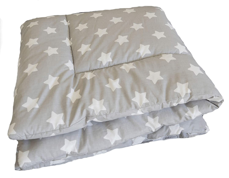 Laufgittereinlage 100x100 // 120x120 gro/ß gepolstert- SWADDYL /® Kuscheldecke Baby Krabbeldecke Sterne Grau 100x100 Spieldecke