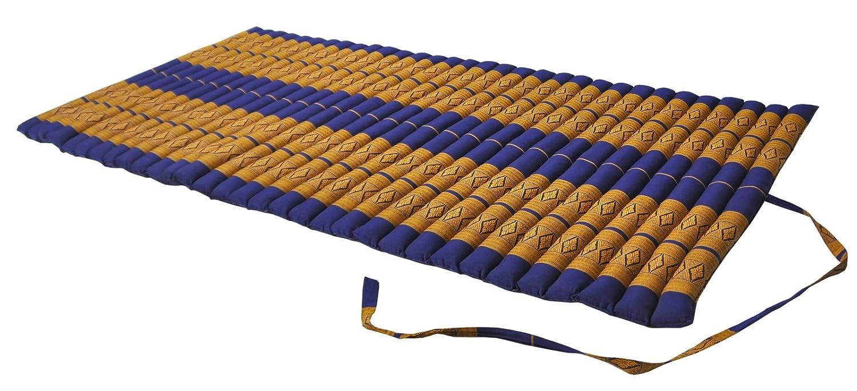 larg. 75 cm Wilai Matelas Thai L Tapis m/éditation Yoga Repos fabriqu/é en Tha/ïlande Bleu//Jaune Gym Plage Piscine 82114 d/étente appoint