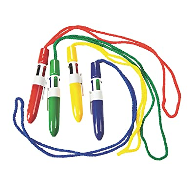 Fun Express - Mini Shuttle Pen On A Rope - Stationery - Pens - Pen Necklaces - 12 Pieces: Toys & Games