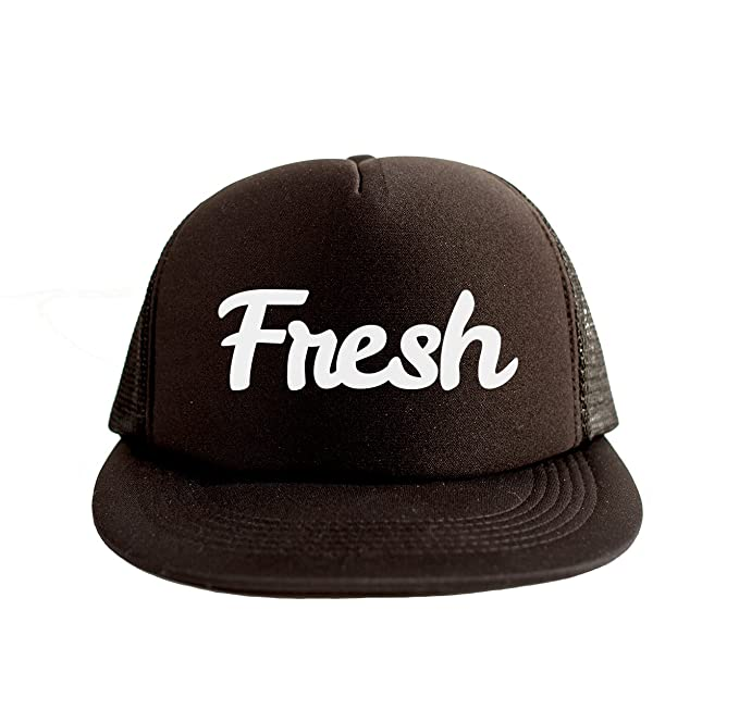 c3095657ed6 Image Unavailable. Image not available for. Color  Fresh Cool Swag Hip Hop  Print 80s Style Snapback Hat Cap Black