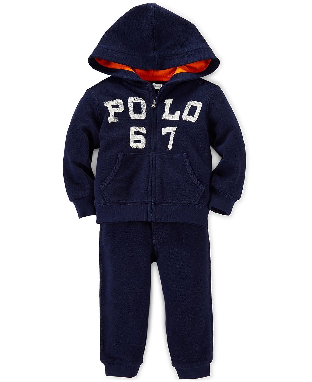 60c5da426685 Amazon.com   Ralph Lauren Polo Baby Boys Logo Fleece Hoodie Jacket ...