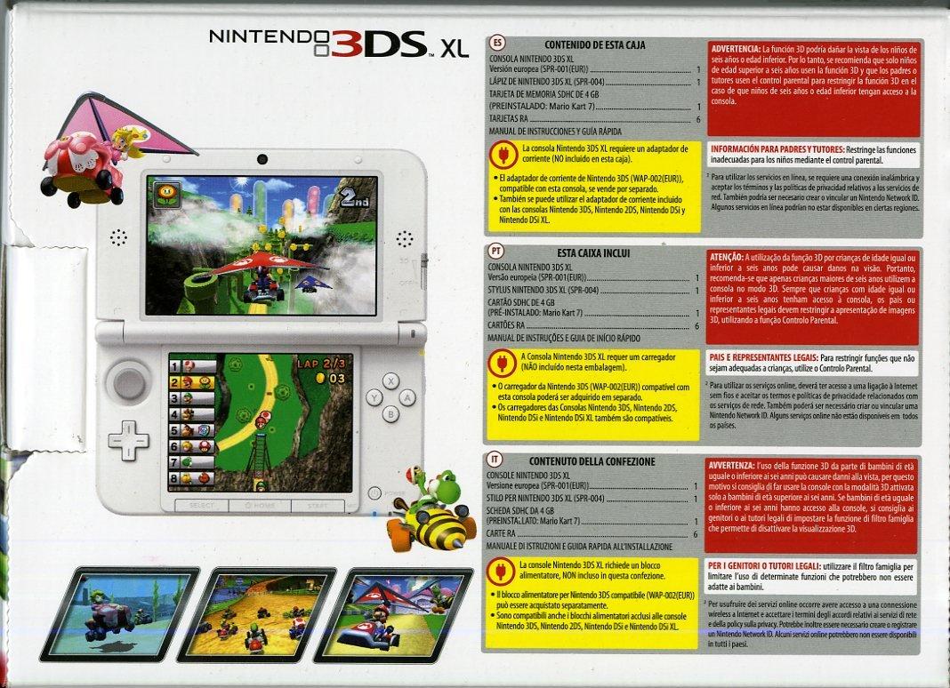 Nintendo 3Ds Xl: Console + Mario Kart 7, Bianco - Bundle ...