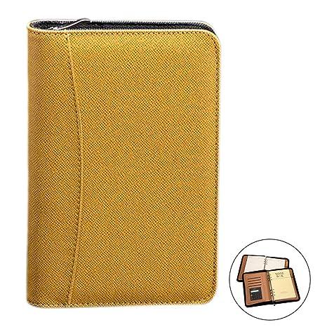 0fc5c9358257 Amazon.com : Aimeio PU Leather Cover A5 Zipper Business Notebook ...