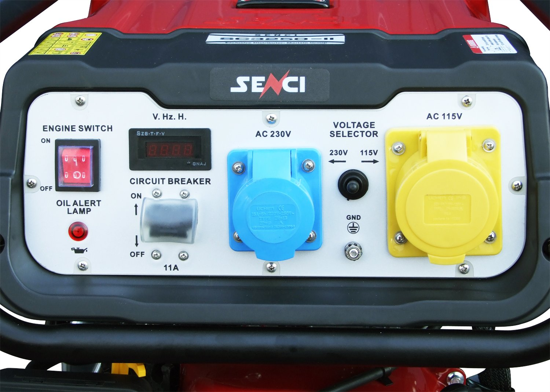 Senci Sc3250 Ii Benzin Generator 28kw Wandmontage Garten Bad Circuit Breaker