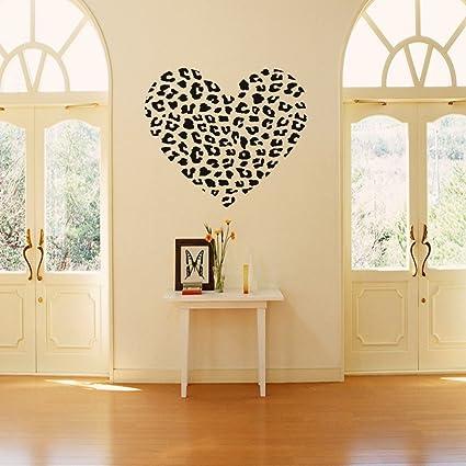 Olivia DIY Leopard Love Heart Spots Wall Decals Animal Print Cheetah ...