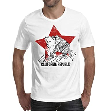 8b160018 Mens California Bear Star Summer T Shirts Stylish Short Sleeve Basic Crew  Neck Cotton T-Shirt Tees for Men | Amazon.com