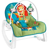 Fisher-Price Infant-to-Toddler Rocker - Colorful Jungle, Baby Rocking Chair with Toys for Soothing or Playtime from Infant to