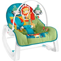 Fisher-Price Infant-to-Toddler Rocker - Colorful Jungle, Baby Rocking Chair with Toys for Soothing or Playtime from…