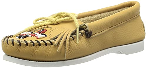 Minnetonka Thunderbird Smooth Leather Boat Sole, Mocasines para Mujer: Amazon.es: Zapatos y complementos