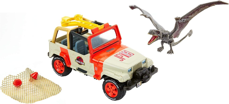2018 Matchbox Jurassic World Jurassic Park Diecast Metal Car Jeep Ford Car Truck