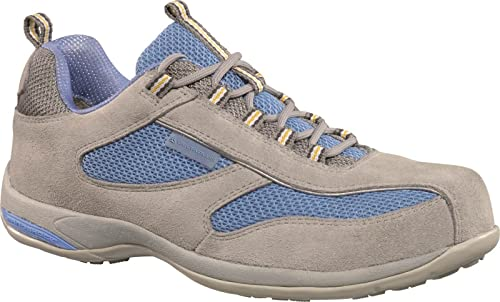 566f1e6df02f Delta Plus Panoply Antibes Grey Suede Ladies Safety Trainers Steel Toe Cap  Shoes  Amazon.co.uk  Shoes   Bags