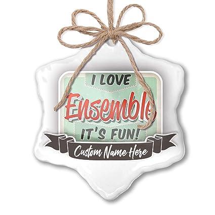 e996d92ac6 Amazon.com  NEONBLOND Create Your Ornament I Love Ensemble