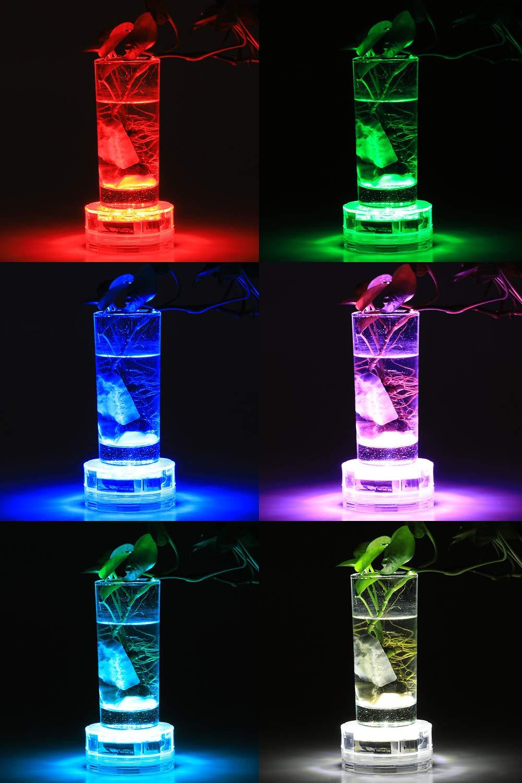 Submersible LED Lights - Idealife Underwater Pond Lights Waterproof LED Lights Pool Lights with RF Remote Control for Fish Tank, Bathtub, Pool, Fountain, Aquarium, Wedding Party, Underwater Decoration
