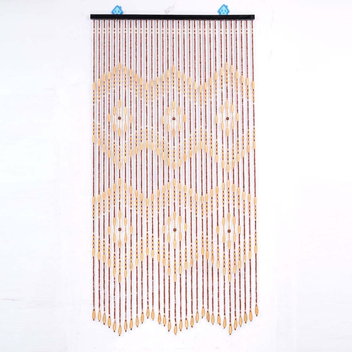 Gongff Wooden Beaded Door Curtain Screen3568in 90x175cm Mosquito