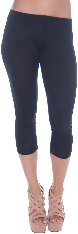 Active Basic Women's Basic 21 Inch Capri Leggings Small Black