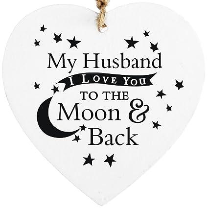 Mi marido I Love You a la luna y parte trasera para colgar ...