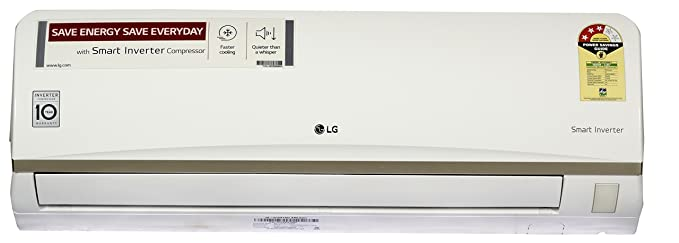 LG 1 Ton 3 Star Inverter Split AC (JS-Q12ATXD White)