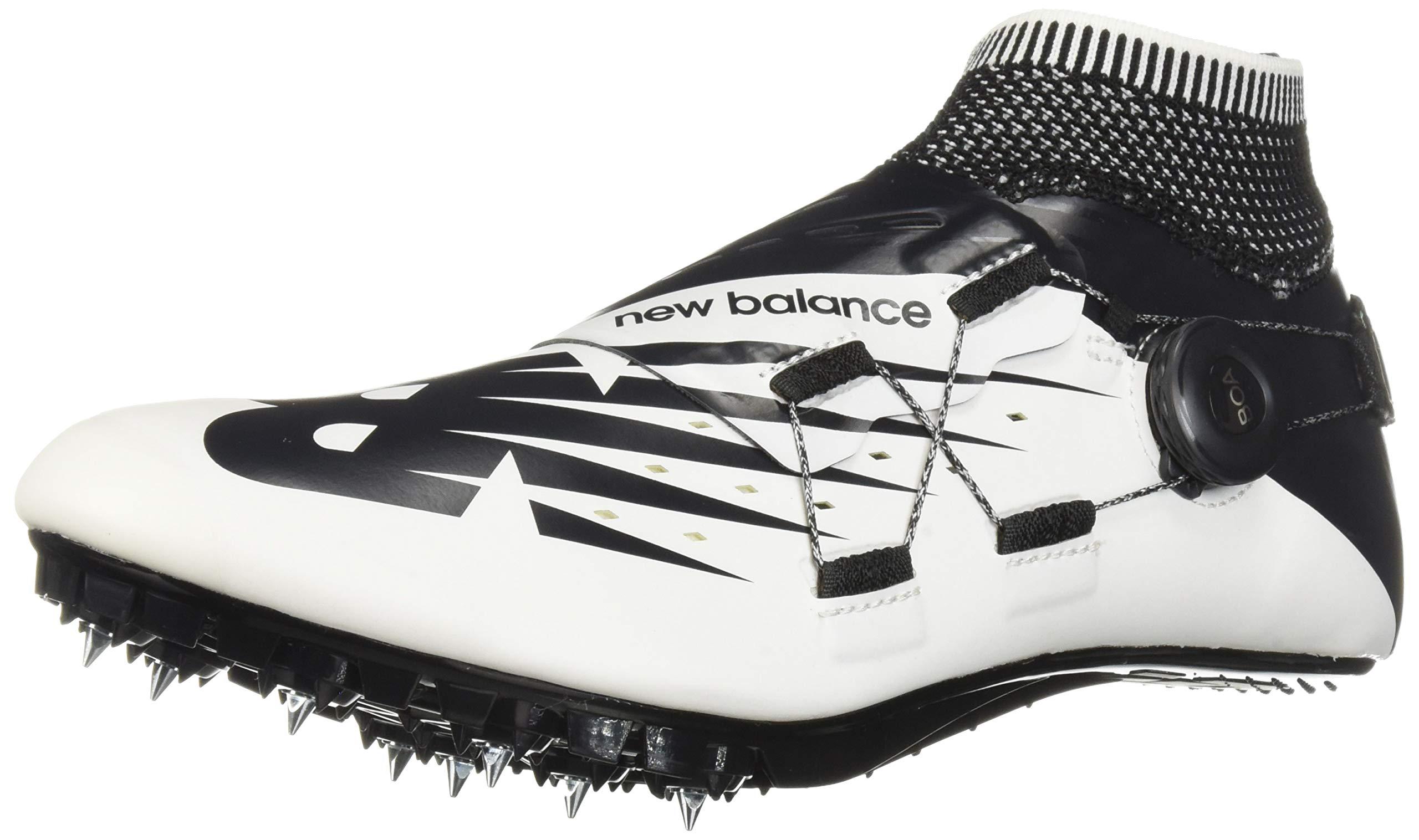 New Balance Men's Sigma V2 Vazee Track Shoe White/Black 4 D US by New Balance (Image #1)