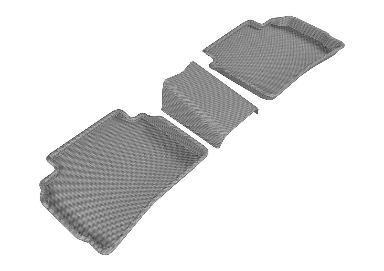 Black L1CH07721509 Kagu Rubber 3D MAXpider Second Row Custom Fit All-Weather Floor Mat for Select Chevrolet Malibu Models