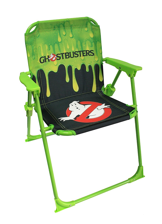 Ghostbusters Black & Green Folding Garden Deck Chair