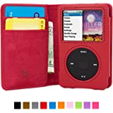 Funda iPod Classic, Snugg Carcasa Plegable para Apple iPod Classic [Ranuras para Tarjetas] Cubierta de Cuero con Billetera, Diseño Ejecutivo [Garantía de por Vida] -Rojo, Legacy Range