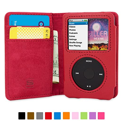 36 opinioni per Cover iPod Classic, Snugg Apple iPod Classic Flip Custodia Case [Slot Per