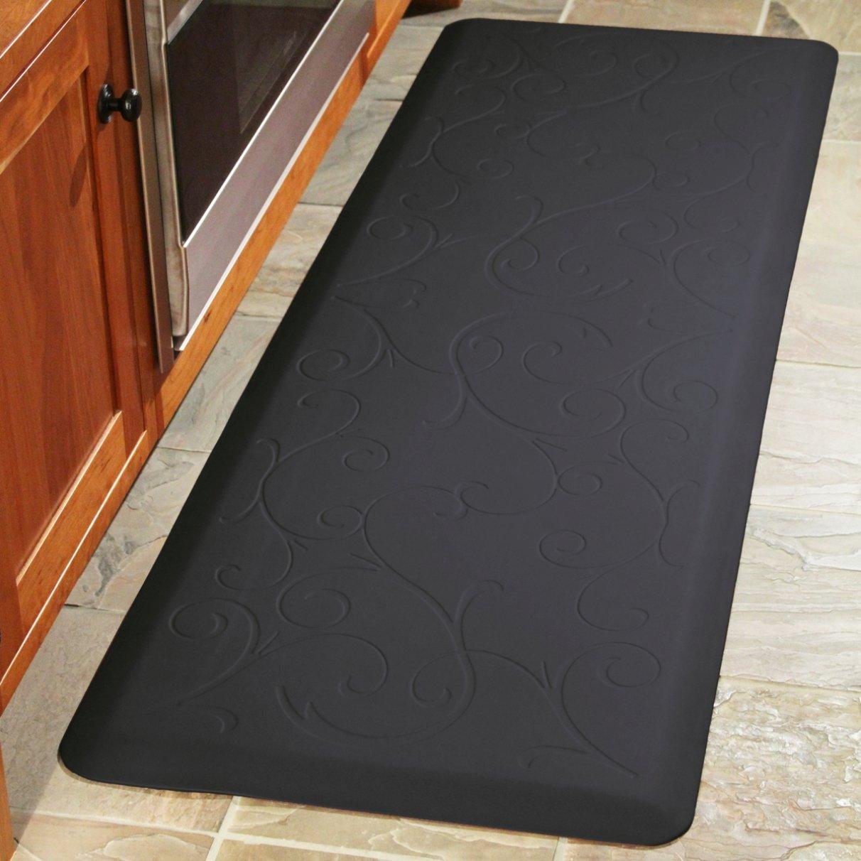 WellnessMats Bella Motif Anti-Fatigue Mat, Black, 72 Inch by 24 Inch by WellnessMats (Image #2)