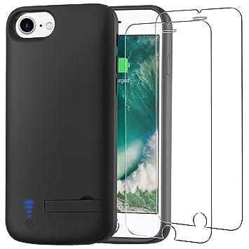 Funda Batería para iPhone 8 [5500 mAh], PEYOU Carcasa Batería Portátil, Compatible con Auriculares de Rayos, Ultra Delgado, Anti-Rasguño, para iPhone ...