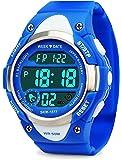 My-Watch Boys Sport Digital Watch Kids Outdoor Waterproof Stopwatch LED Electronic Wrist Watches