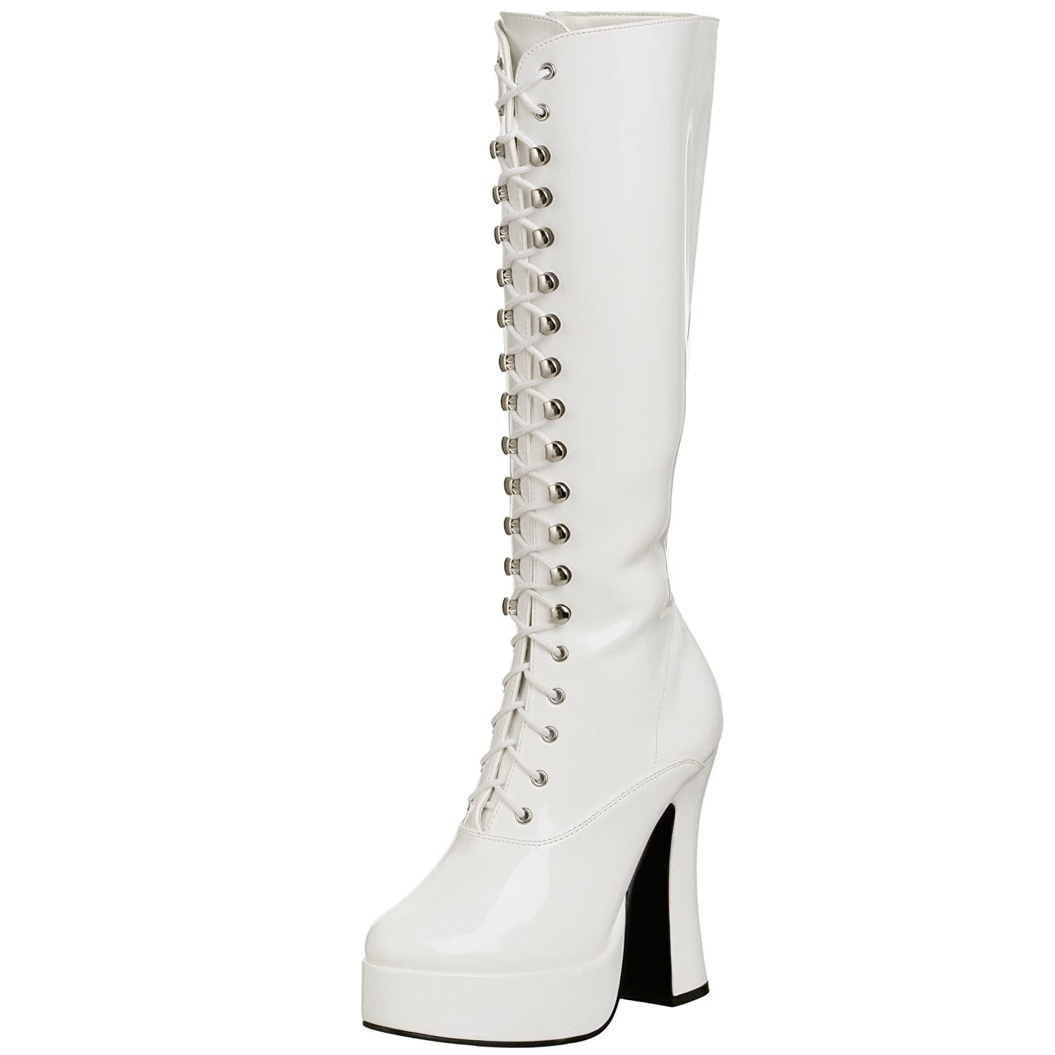 Pleaser Women's Electra-2020 Boot B00125MS7K 14 B(M) US|White Patent