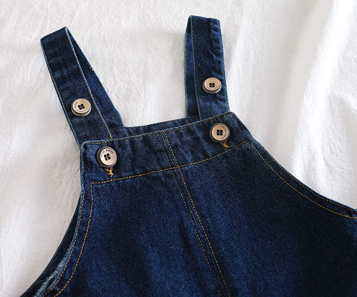 Kidscool Space Cute 2 Big Leg Pockets Baby Toddler Ripped Casual Jeans Overalls