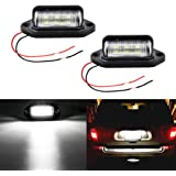 LivTee Waterproof 12V LED Tag License Plate Lamp Light for Truck SUV Trailer Van, Step Courtesy Lights, Dome Cargo…