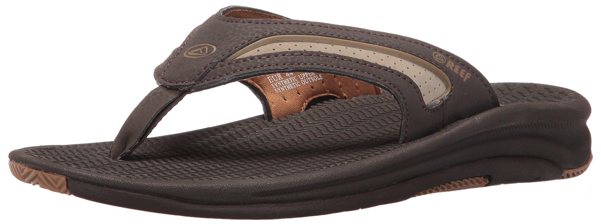 Reef Men's Flex Sandal, Dark Brown Tan, 7 M US