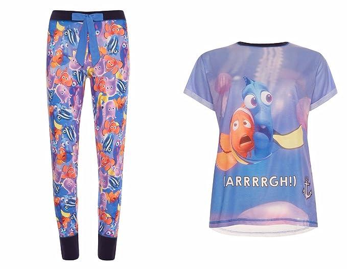 Ladies Dory pijama camiseta y leggins Finding Dory. azul Dory/Blue S