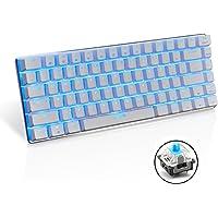 FELiCON® Gaming Mechanical Keyboard Blue Switches Keyboard Ajazz Geek AK33 Blue Backlit Metal Multimeia Ergonomic USB Wired for PC Laptop/Computer