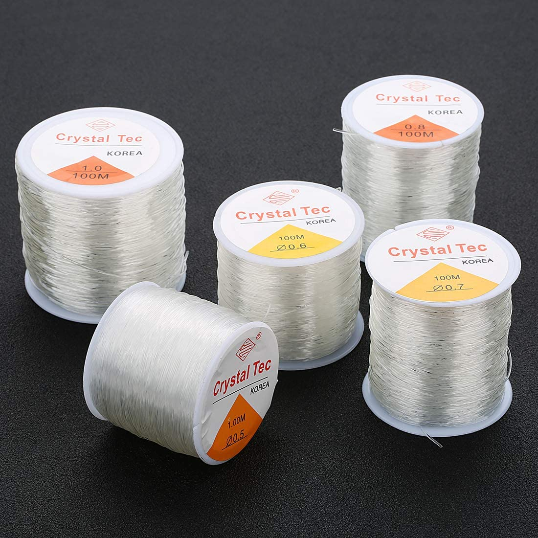 1.2 mm Crystal Tec Transparent Stretch Clear Elastic String Beading Craft Cord