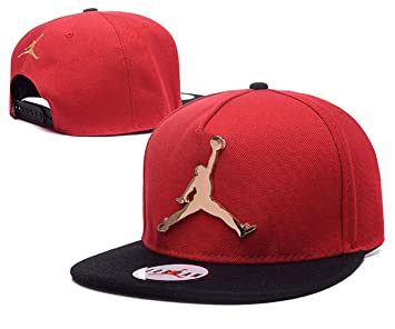 2da95f7d7031 2018 Jumpman Air Jordan Cap Iron Standard Hip-hop Hat(Red.Metal Logo ...