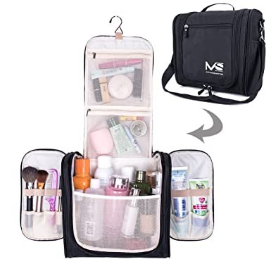 5f3ecaf476cb Amazon.com  MelodySusie Large Travel Toiletry Bag Waterproof Makeup ...