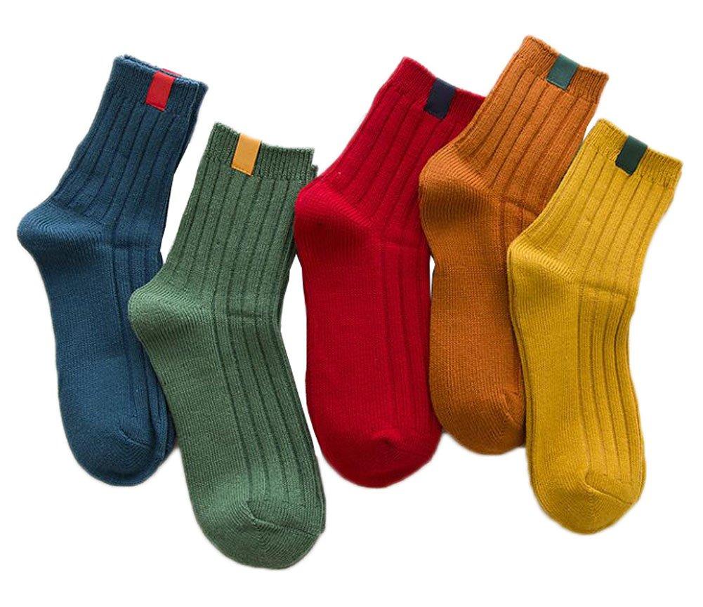 Frauen-Komfort-Baumwoll-Crew-Socken 5 Pack für Damen Black Temptation